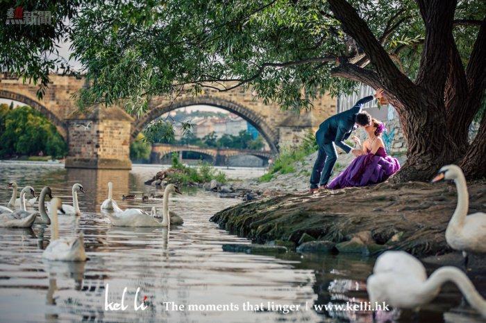 婚紗照在布拉格的天鵝湖   Prague prewedding photo