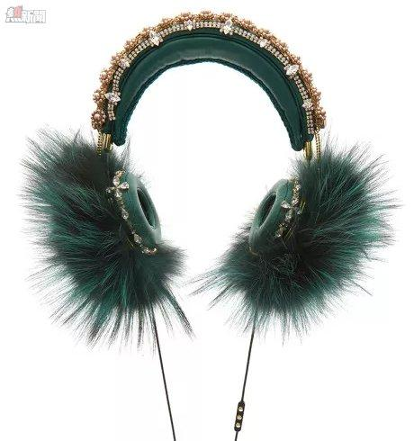 Dolce Gabbana Green Headphones