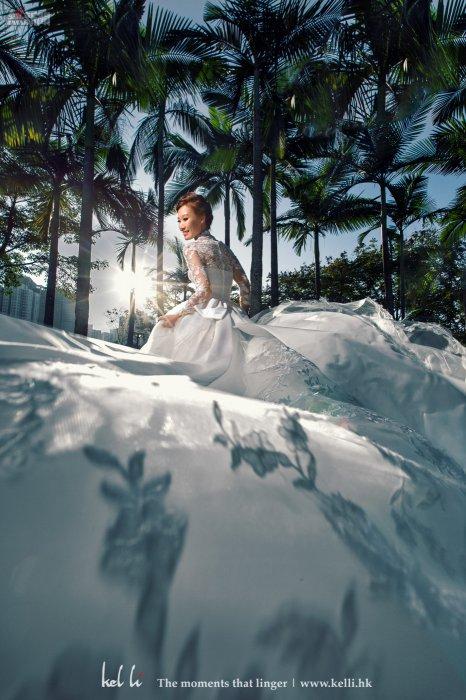 新娘穿上Vintage的婚紗,帶出分外優雅