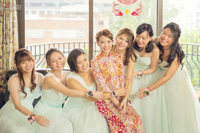 新娘與sisters的合照也是必拍之一