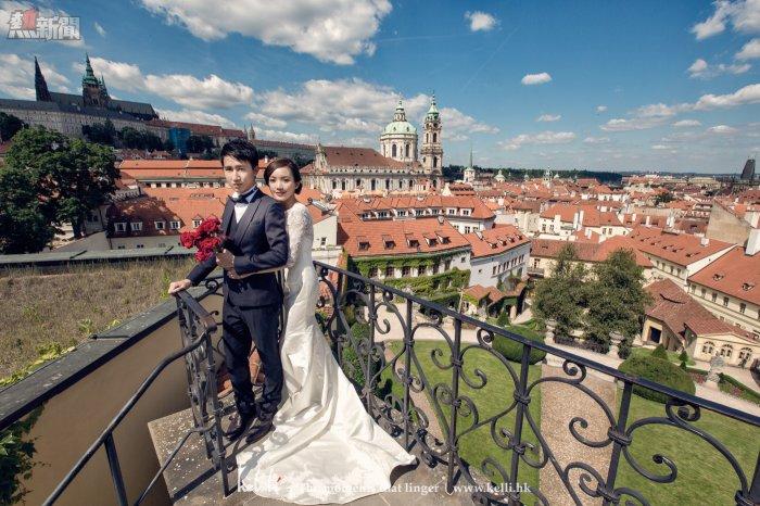 站在這裡,是可以看到布拉格的全景,是一個很漂亮的花園
