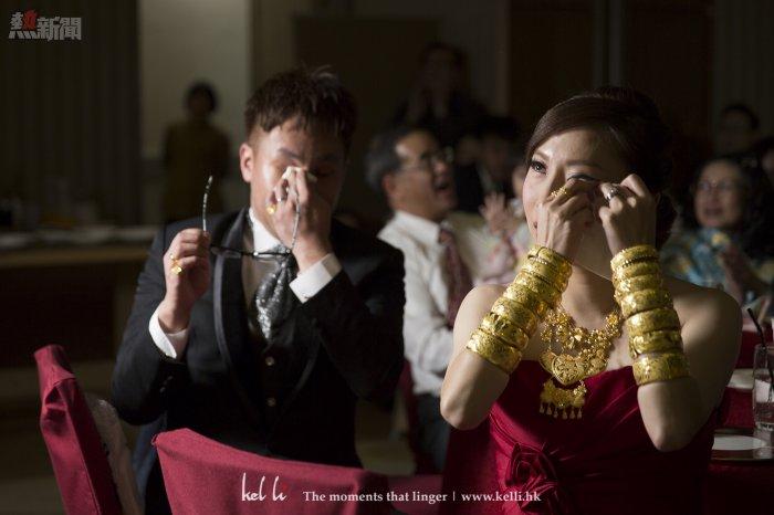 新人在看早拍晚播時,雙方都同時感動而流淚,雙方都能感受一樣,這就是夫妻