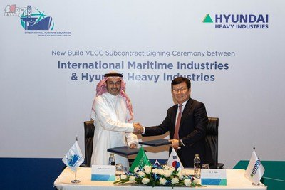 Sub-Contract Signing: HHI & IMI L-R: Mr. Fathi K. Al-Saleem, Chief Executive Officer, IMI, Mr. S. Y. Park, Senior Executive Vice President, HHI