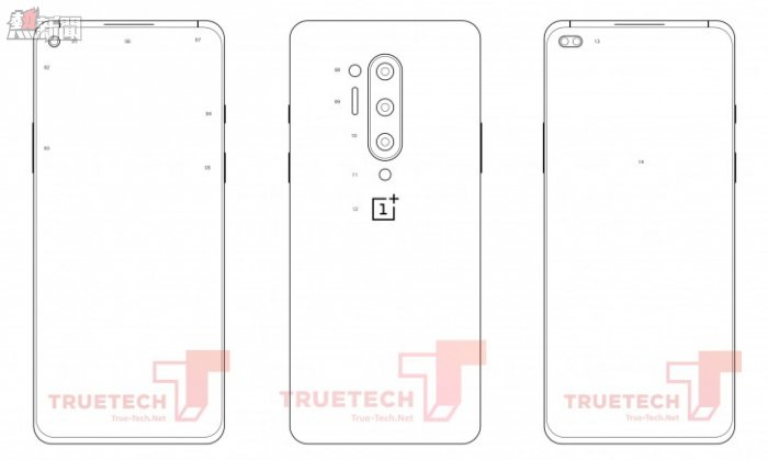 Alleged OnePlus 8 Pro diagrams leak with a quad-camera setup